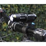 Linterna Cree Led Q5 Tactica + Base Para Bicicleta 360°