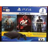 Consola Playstation4 Slim 1tb.nuevas + 3 Jgos Físicos.450