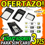 Adaptador De Nano Sim A Micro Y Sim Card Kit 3 Iphone 5 Wow