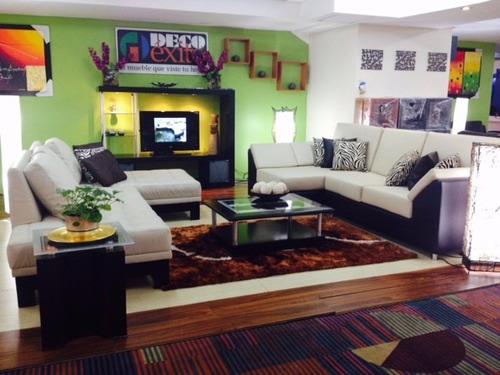Mueble juego de sala modular moderno modelo milan bs f 1 for Precio de muebles para sala