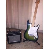Guitarra Electrica Marca Dandre Y Base Amplificador Y Forro