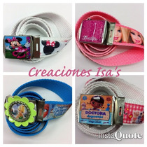 Correas Decoradas Intensamente Violetta Frozen Peppa Sofia