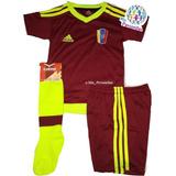 Conjunto Uniforme Futbol Venezuela Vinotinto Givova