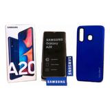 Samsung A20+forro+vidrio+microsd -160-( L E E R Descripción)