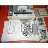 Nintendo Wii Con Caja Tabla Wii Fit Juegos Originales