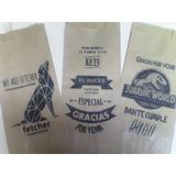 Bolsas Papel Kraf Personalizadas Cotillones- Precio X 100und