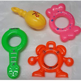 12 Maraquitas Plasticas De Niños Bmg