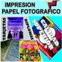Impresion Papel Foto Fotografico, Glasse Carta Full Color