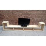 Mueble Modular Tipo L Tv Plane Minimalista