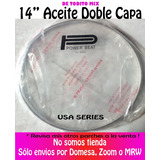 Parche Redoblante 14  Aceite Power Beat Doble Capa