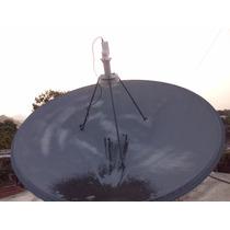 Antena Parabólica Satelital 2.4mts + Lnb Banda C Profesional