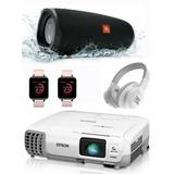 Video Beam Epson S27/x27 Mas Cornetas Jbl Smartwatch Gratis!