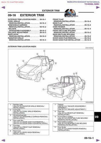 manual de taller y reparaci n para el mazda bt 50 2007 2013 31 en rh ve melinterest com manual de taller mazda bt-50 diesel Mazda BT-50 2008