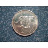 Moneda De Plata Conmemorativa 25 Bs. Jaguar 1975