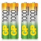 Pilas Baterias Gp Recargables Pack X4 Aaa 1000mah P294