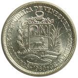 Moneda De Venezuela Dos Bolívares De Plata De 1960   Ef+
