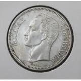 Moneda Fuerte Plata 5 Bolívares 1911 Venezuela Xf Consulte