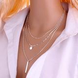 Collar Layer Capas Circulo Amor Palito Suerte Fashion Amor