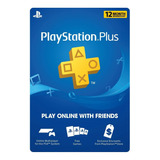 Playstation Plus 1 Año Ps4 Ps3 Ps Vita Psn