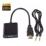 Convertidor Hdmi A Vga Audio Video Monitor Laptop Ps3 Ps4 Tv