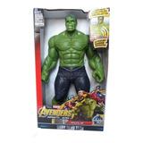 Muñeco De Hulk Articulado Con Luz Y Sonido 30cm