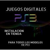 Juegos Digitales Para Ps3. Instalación En Tienda. Pack De 5.