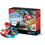 Nintendo Wii U 32gb Negro Deluxe Mario Kart 8 Nuevo Garantia