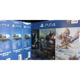 Playstation 4 Slim Ps4 Hdr 1tb +3 Juegos + Garantía + Tienda