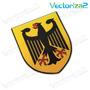 Emblema Escudo De Armas Alemania Germany Bmw Mercedes Porsch Porsche Cayenne
