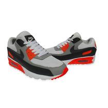 Nike Airmax 90  Blanco Naranja