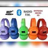 Audífonos Inalambricos Mp3 Bluetooth, Somos Tienda Física