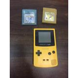 Gameboy Color + 2 Juegos Pokemon Clasicos Gold, Crystal 100c