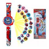 Reloj Proyector Spiderman Frozen Ben10 Minie Sofi Para Niños