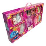 Muñeca Tipo Barbie Con 19 Vestidos Y Accesorios Juguete