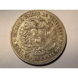 Excelente Moneda De Plata. Fuerte 5 Bolívares. Año 1935