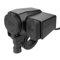 Cargador Usb Y 12v Para Moto Carga Telefonos Camaras Radios