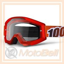 Lente 100% The Strata Fire Rojo Motocross Enduro Downhill