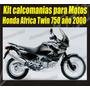 Kit Calcomanias Para Motos Honda Africa Twin 750 Año 2000
