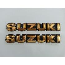 Par De Letras Emblema Para Tanque Gasolina Suzuki