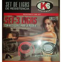 Set De 3 Ligas Para Ejercicios De Resistencia Marca K6 67301
