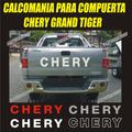 Calcomania Compuerta Para Camioneta Chery Grand Tiger