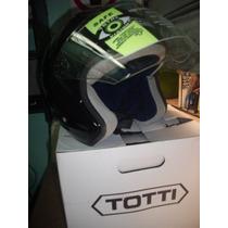 Casco Semi Integral Motorizado Entradas De Aire Totti