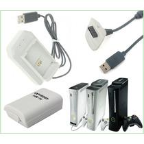Xbox 360 Slim Bateria Ni Mh 4800 Mah Cable Usb Y Cargador