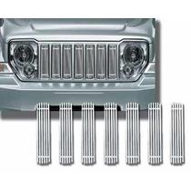 Inserto De Parrilla Cromado Jeep Cherokee Kk 2008 - 2014