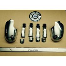 Kit Cromado Ford Fiesta Power Max Move X4 Man Esp Pla Tg