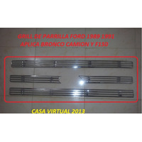 Grill Cromado Camisa Parrilla Ford F150 Bronco Camion 87-91