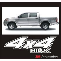 Calcomania Stickers 4x4 Para Toyota Hilux Todos Los Años.