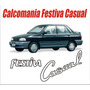 Calcomania Emblema Trasero Para Ford Festiva Casual