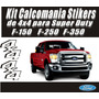 Kit De Calcomania 4x4 Super Duty F-150 F-250 F-340