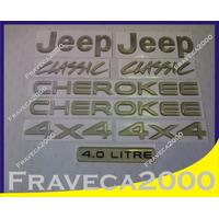 Kit Emblema Jeep Cherokee Classic 4x4 ( Completo )